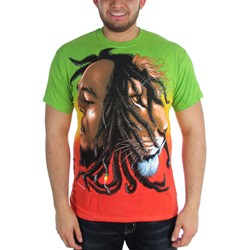 Bob Marley - Profiles Dye Adult T-Shirt in Tie Dye
