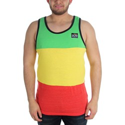 Catch A Fire - Mens Rasta Stripe Tank T-Shirt In Heathered Rasta
