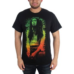 Bob Marley - Mens  Rasta Leaves  T-Shirt In Black