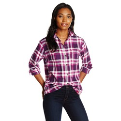 Dickies - Womens L/S Plaid Flannel Top