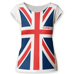 Def Leppard - Womens Union Jack Cut T-Shirt