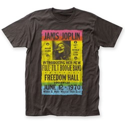 Janis Joplin - Mens Freedom Hall Poster Fitted T-Shirt
