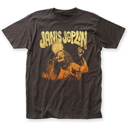 Janis Joplin - Mens Live Fitted T-Shirt