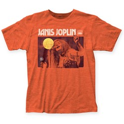 Janis Joplin - Mens Singing Fitted T-Shirt