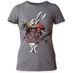Alice's Adventures in Wonderland - Womens White Rabbit T-Shirt