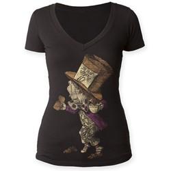 Alice's Adventures in Wonderland - Womens hatter Deep V-Neck Shirt