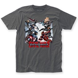 Captain America - Mens Civil War Clash Fitted T-Shirt