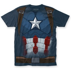 Captain America - Mens Civil War Captain CW Suit Big Print T-Shirt