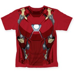 Captain America - Mens Civil War Iron Man CW Suit Big Print T-Shirt