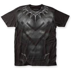 Captain America - Mens Civil War Black Panther CW Suit Big Print T-Shirt
