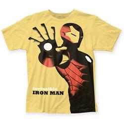 Marvel Comics - Mens Michael Cho Invincible Iron-Man Big Print T-Shirt