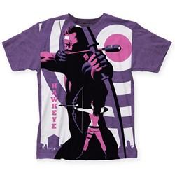 Marvel Comics - Mens Michael Cho Hawkeye Big Print T-Shirt