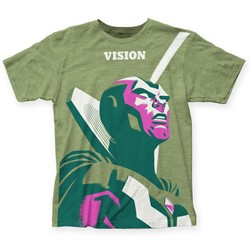 Marvel Comics - Mens Michael Cho Vision Big Print T-Shirt