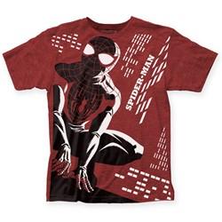 Marvel Comics - Mens Michael Cho Spider-Man Big Print T-Shirt