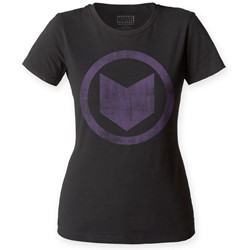 Hawkeye - Womens Distressed Icon T-Shirt