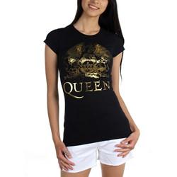 Queen - Womens Queen Gold Logo T-Shirt