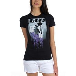 Jimi Hendrix - Womens Pixel Drip Jr T-Shirt