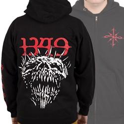 1349 - Mens Chaos Skull Zip-Up Hoodie