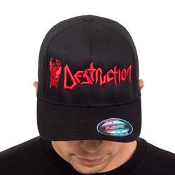 Destruction - Mens Cracked Skull Snapback Hat
