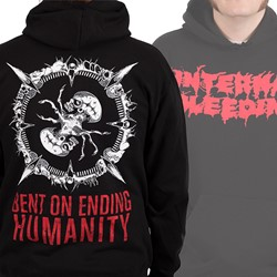 Internal Bleeding - Mens Bent On Ending Humanity Pullover Hoodie