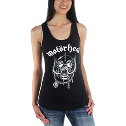 Motorhead - Womens England Lace Back Tank Tank-Top