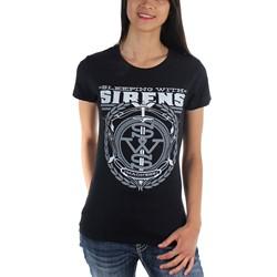 Sleeping With Sirens - Womens Grey Crest Logo T-Shirt