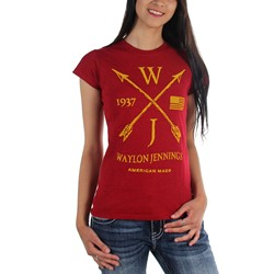 Waylon Jennings - Womens Arrows T-Shirt