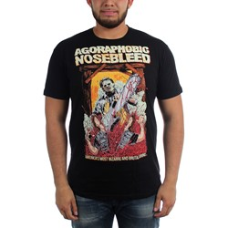 Agoraphobic Nosebleed - Mens Leatherface T-Shirt