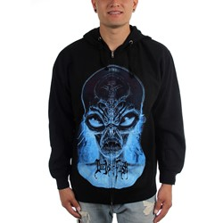 Deeds of Flesh - Mens Alien Head Zip-Up Hoodie