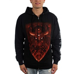 Deeds of Flesh - Mens Mark Of The Legion Zip-Up Hoodie