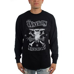 Waylon Jennings - Mens Drinkin and Dreamin Long Sleeve T-Shirt