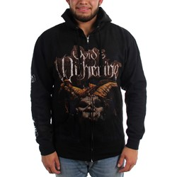 Ovids Withering - Mens Scryers of the Ibis LP Cover Zip-Up Hoodie