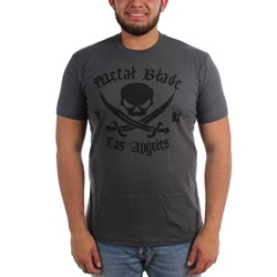 Metal Blade Records - Mens Pirate Logo Black On Dark Heather T-Shirt