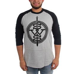 Sleeping With Sirens - Mens Grey Symbol Logo T-Shirt