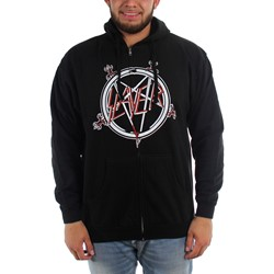 Slayer - Mens Pentagram Zip Hoodie Hoodie