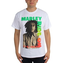 Bob Marley - Mens Ride On Pose T-Shirt