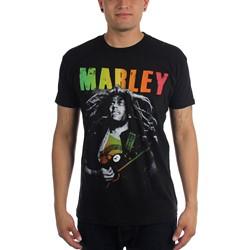 Bob Marley - Mens Hair Guitar T-Shirt