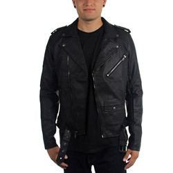 Tripp NYC - Mens Faux Leather Moto Jacket