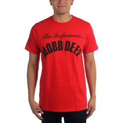 Mobb Deep - Mens Infamous on Red T-Shirt