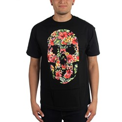 Famous Stars and Straps - Mens Hibiscus Skull T-Shirt