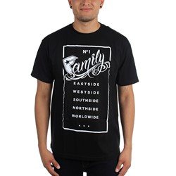 Famous Stars and Straps - Mens Family Rectangle T-Shirt
