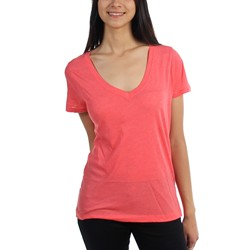 Hurley - Juniors Solid Perfect V-Neck T-Shirt
