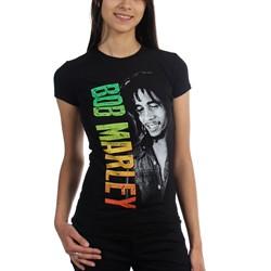 Bob Marley - Womens Marley Smile Gardient T-Shirt