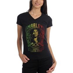 Bob Marley - Womens Take Your Stance V-Neck T-Shirt