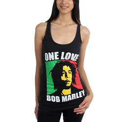 Bob Marley - Womens One Lover Racerback Tank-Top