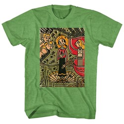 Popeye - Mens Mosaic Olive T-Shirt