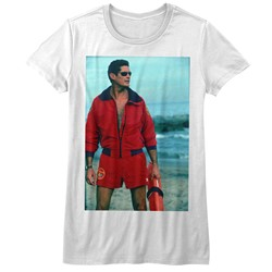 Baywatch - Womens On The Beach T-Shirt