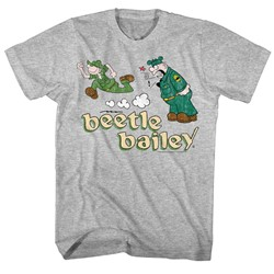 Beetle Bailey - Mens Beetle Run Sarge Yell T-Shirt