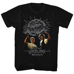 Bill And Ted - Mens Gray Wyld Stalyns T-Shirt