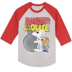 Danger Mouse - Mens Danger Bomb Raglan